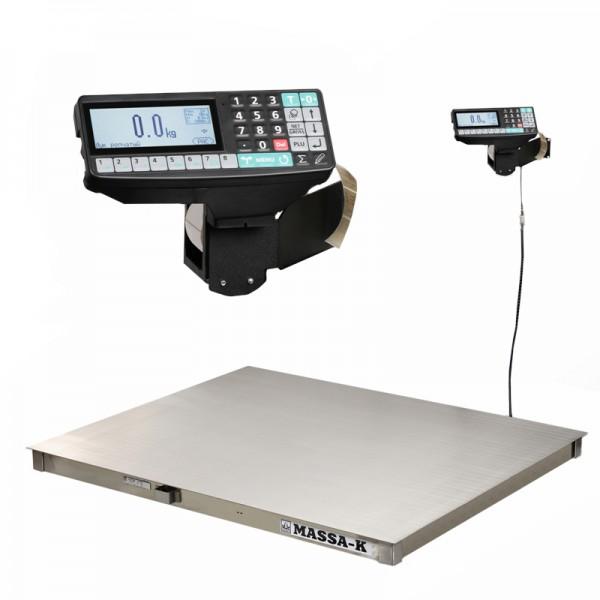 Весы платформенные с печатью этикеток МАССА-К 4D-P.S-3_RP
